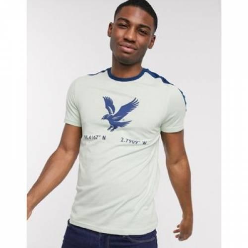 Tシャツ & メンズファッション トップス カットソー 【 LYLE SCOTT EAGLE PRINT TSHIRT 】