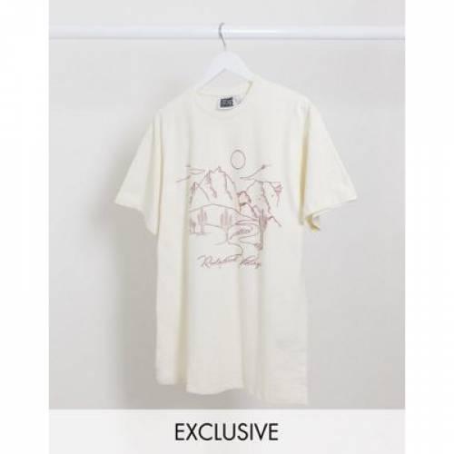 ビンテージ ヴィンテージ Tシャツ メンズファッション トップス カットソー 【 VINTAGE RECLAIMED INSPIRED UNISEX OVERSIZED TSHIRT WITH WESTERN PRINT 】
