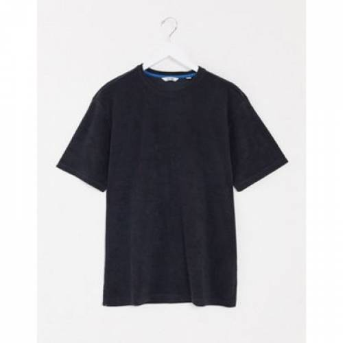 Tシャツ 紺 ネイビー & メンズファッション トップス カットソー 【 NAVY ONLY SONS OVERSIZED TOWELLING TSHIRT IN 】