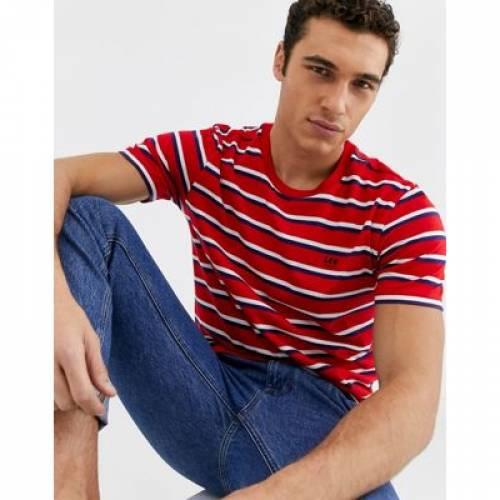 ストライプ Tシャツ 赤 レッド メンズファッション トップス カットソー 【 STRIPE RED LEE JEANS TSHIRT IN 】