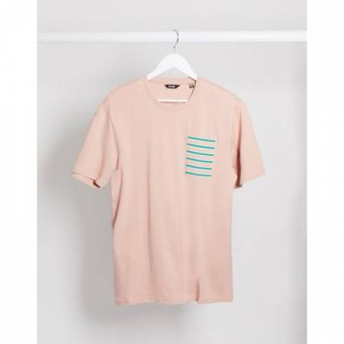 Tシャツ ピンク & メンズファッション トップス カットソー 【 PINK ONLY SONS POCKET TSHIRT IN 】