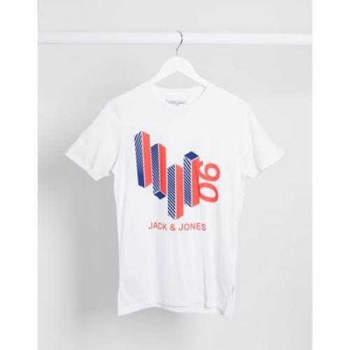ロゴ グラフィック Tシャツ & メンズファッション トップス カットソー 【 JACK JONES BLOCK LOGO GRAPHIC TSHIRT 】