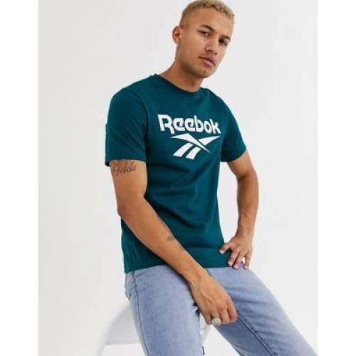 リーボック Tシャツ ロゴ 緑 グリーン メンズファッション トップス カットソー 【 REEBOK GREEN TSHIRT WITH VECTOR LOGO IN 】