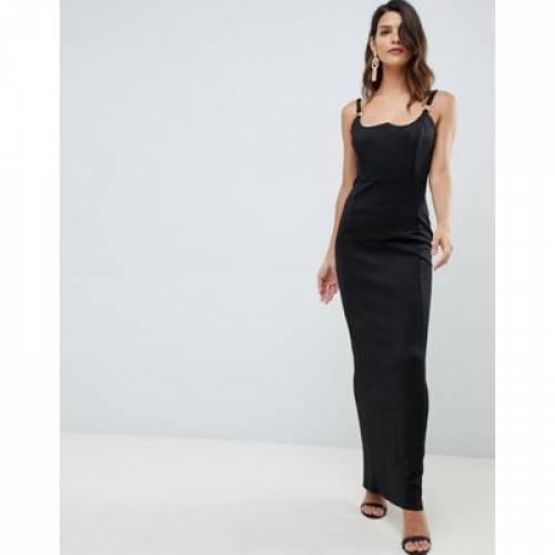 ドレス レディースファッション ワンピース 【 ASOS DESIGN RING TRIM MAXI DRESS 】