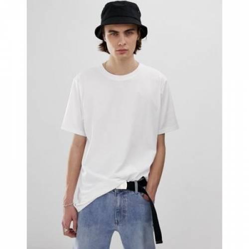 Tシャツ 白 ホワイト メンズファッション トップス カットソー 【 WHITE WEEKDAY FRANK TSHIRT IN 】