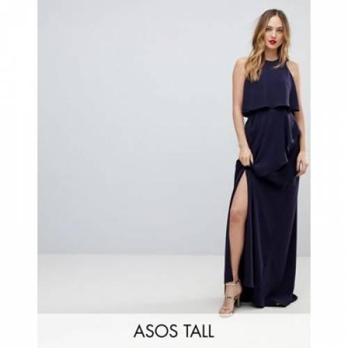 クロップ ドレス レディースファッション ワンピース 【 CROP ASOS TALL TOP THIGH SPLIT MAXI DRESS 】