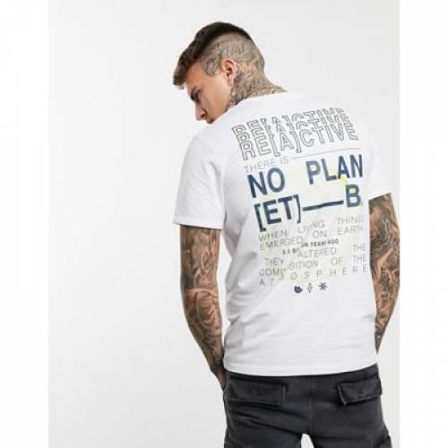 コア グラフィック Tシャツ 白 ホワイト & メンズファッション トップス カットソー 【 WHITE JACK JONES CORE OVERSIZE FIT BACK PRINT GRAPHIC TSHIRT IN 】