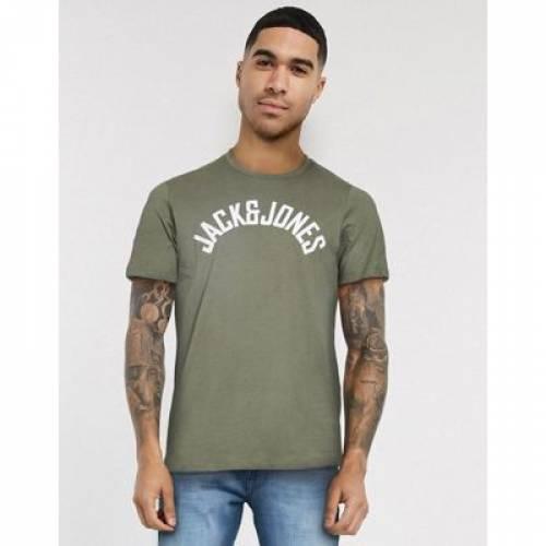 ロゴ Tシャツ & メンズファッション トップス カットソー 【 JACK JONES CHEST BRAND LOGO TSHIRT 】