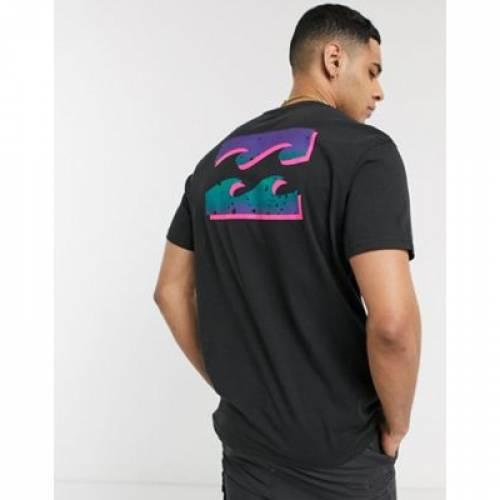 ビラボン Tシャツ 黒 ブラック メンズファッション トップス カットソー 【 BILLABONG BLACK WARCHILD BACK PRINT TSHIRT IN 】