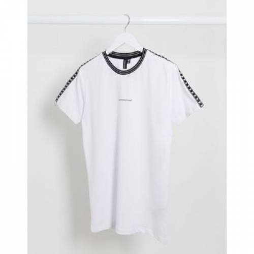 Tシャツ ロゴ 白 ホワイト メンズファッション トップス カットソー 【 WHITE GOOD FOR NOTHING TSHIRT WITH LOGO TAPING IN 】