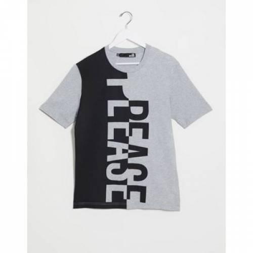 ロゴ Tシャツ メンズファッション トップス カットソー 【 LOVE MOSCHINO VEERTIAL LOGO TSHIRT 】