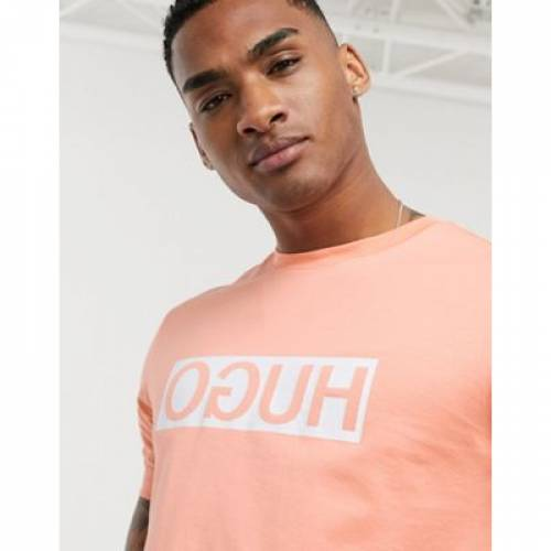 【スーパーセール中! 6/11深夜2時迄】ボックス ロゴ Tシャツ メンズファッション トップス カットソー 【 HUGO DICAGOLINO BOX LOGO TSHIRT IN PEACH 】