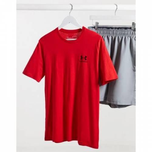 ロゴ Tシャツ 赤 レッド メンズファッション トップス カットソー 【 RED UNDER ARMOUR LOGO TSHIRT IN 】