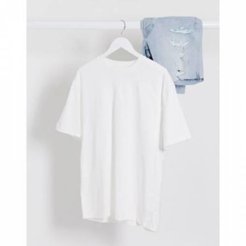 Tシャツ 白 ホワイト メンズファッション トップス カットソー 【 WHITE TOPMAN OVERSIZED TSHIRT IN 】