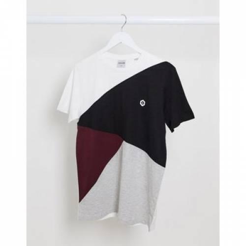 Tシャツ & メンズファッション トップス カットソー 【 JACK JONES DIAGONAL CUT SEW TSHIRT 】
