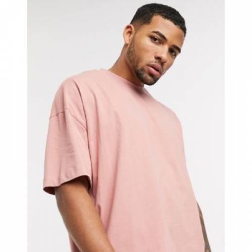 Tシャツ ピンク メンズファッション トップス カットソー 【 PINK ASOS DESIGN OVERSIZED TSHIRT IN 】