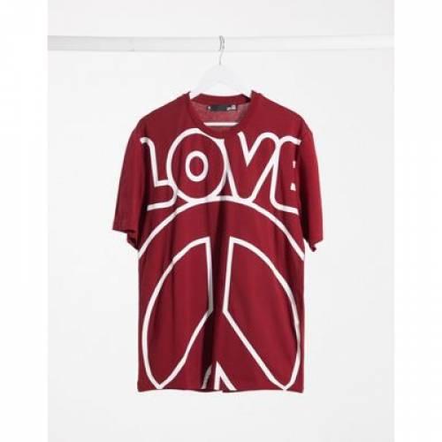ロゴ Tシャツ メンズファッション トップス カットソー 【 LOVE MOSCHINO LOGO TSHIRT 】