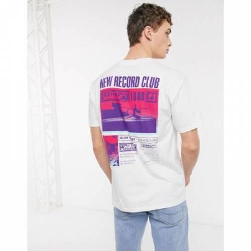 クラブ Tシャツ 白 ホワイト メンズファッション トップス カットソー 【 WHITE CARHARTT WIP RECORD CLUB BACK PRINT TSHIRT IN 】