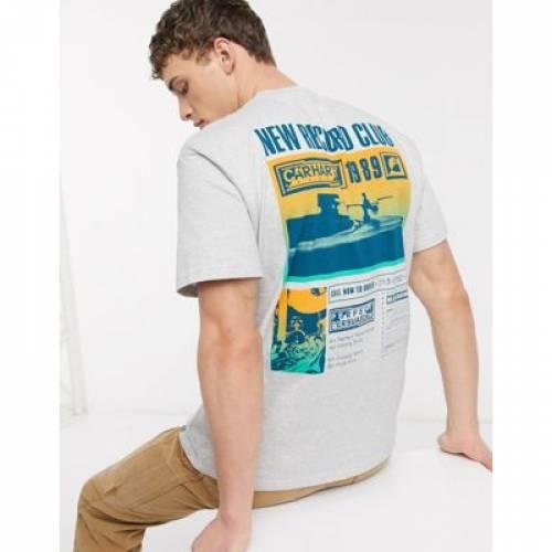 クラブ Tシャツ 灰色 グレ メンズファッション トップス カットソー 【 CARHARTT WIP RECORD CLUB BACK PRINT TSHIRT IN GREY 】