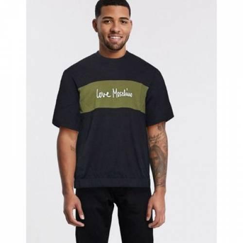 【スーパーセール中! 6/11深夜2時迄】Tシャツ メンズファッション トップス カットソー 【 LOVE MOSCHINO EMBROIDERED TSHIRT 】