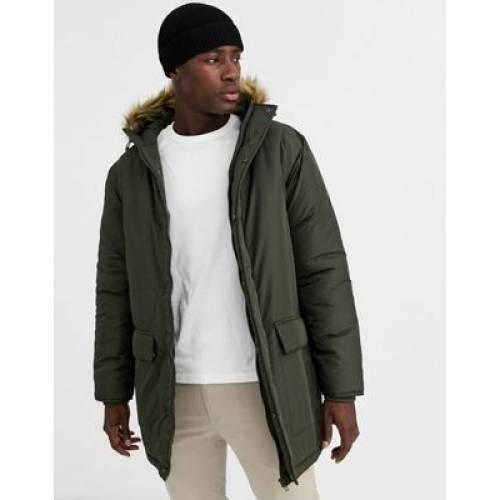 メンズファッション コート ジャケット 【 FRENCH CONNECTION FAUX FUR HOOD PARKA JACKET 】