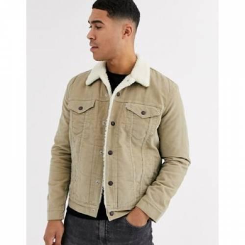 トラッカー チノ LEVI'S メンズファッション コート ジャケット 【 TYPE 3 BORG LINED CORD TRUCKER JACKET IN TRUE CHINO 】