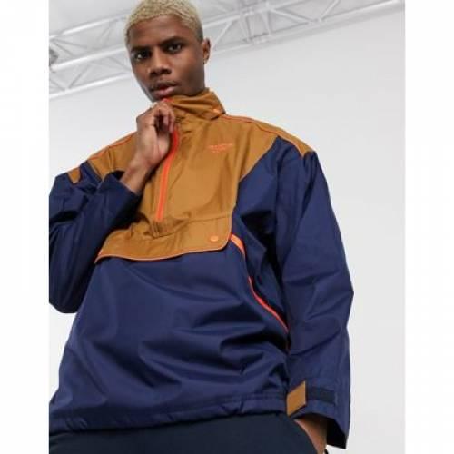 リーボック 茶 ブラウン 紺 ネイビー メンズファッション コート ジャケット 【 REEBOK BROWN NAVY TRAIL JACKET IN AND 】