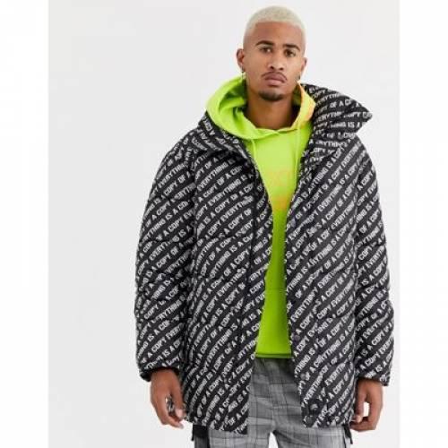ロゴ メンズファッション コート ジャケット 【 SIXTH JUNE LONGLINE PUFFER JACKET WITH ALL OVER LOGO 】