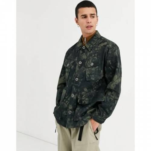 ワーカー メンズファッション コート ジャケット 【 WORKER ASOS DESIGN JACKET IN CAMO PRINT 】