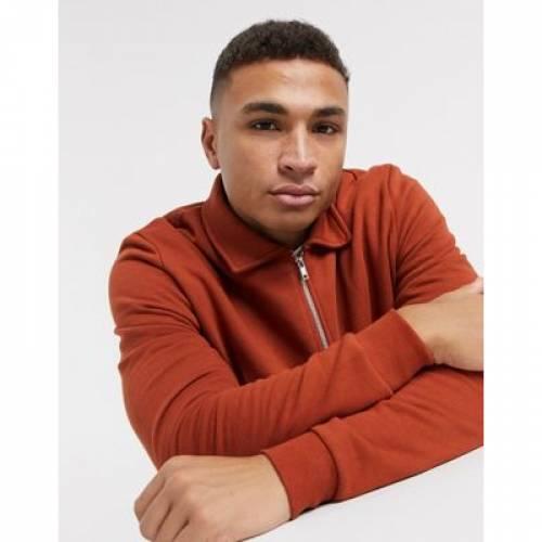 ジャージ 茶 ブラウン メンズファッション コート ジャケット 【 BROWN ASOS DESIGN JERSEY HARRINGTON JACKET IN 】