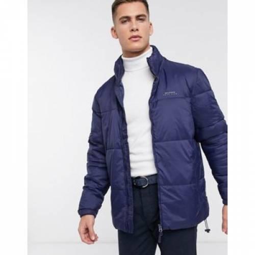紺 ネイビー メンズファッション コート ジャケット 【 NAVY BELLFIELD PUFFER JACKET IN 】