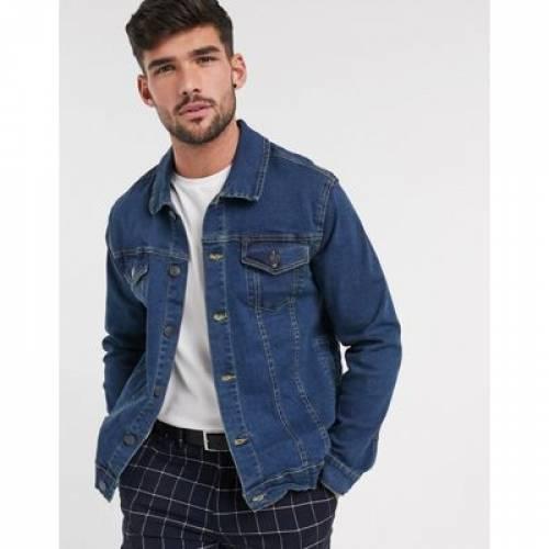 ロゴ デニム メンズファッション コート ジャケット 【 FRENCH CONNECTION LOGO DENIM JACKET 】