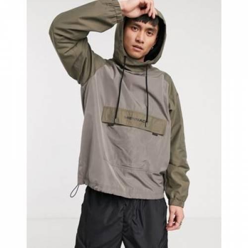 メンズファッション コート ジャケット 【 MENNACE TONAL PULLOVER JACKET IN STONE 】