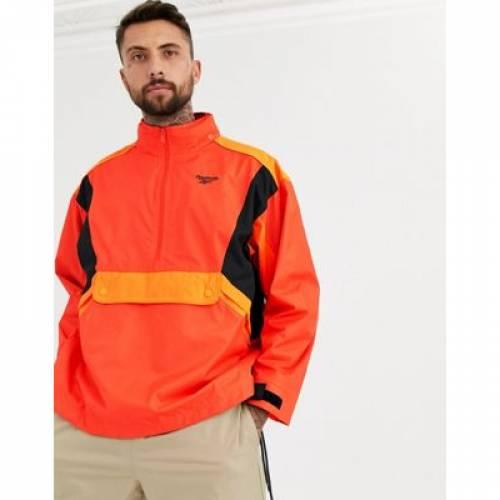 リーボック 橙 オレンジ メンズファッション コート ジャケット 【 REEBOK ORANGE TRAIL JACKET IN 】