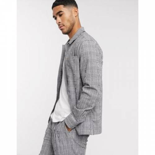 灰色 グレ メンズファッション コート ジャケット 【 FARAH MCELENNAN CHECK LIGHT JACKET IN GREY 】