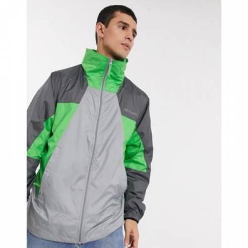 パーク ウィンドブレーカー 灰色 グレ メンズファッション コート ジャケット 【 COLUMBIA POINT PARK WINDBREAKER IN GREY 】