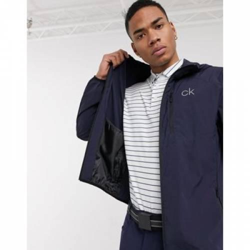 ゴルフ 紺 ネイビー メンズファッション コート ジャケット 【 GOLF NAVY CALVIN KLEIN 24 7 ULTRALITE JACKET IN 】