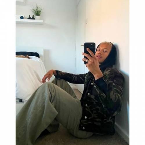 メンズファッション コート ジャケット 【 ASOS DESIGN CORD WESTERN JACKET IN CAMO PRINT 】