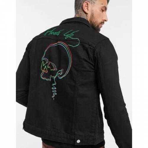 デニム メンズファッション コート ジャケット 【 BOLONGARO TREVOR BACK PRINT DENIM JACKET 】