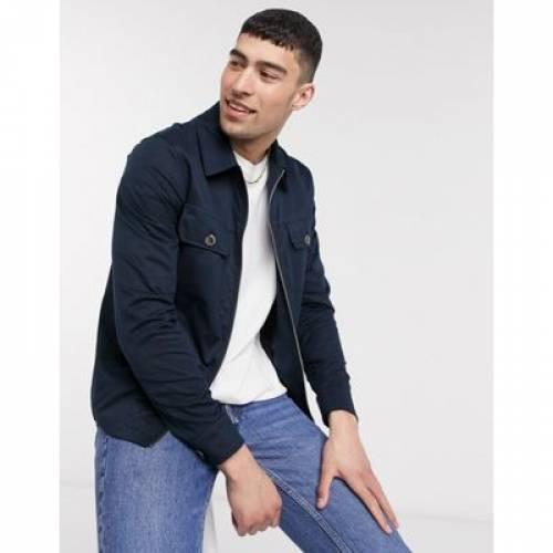 紺 ネイビー メンズファッション コート ジャケット 【 NAVY RIVER ISLAND ZIP THROUGH OVERSHIRT IN 】