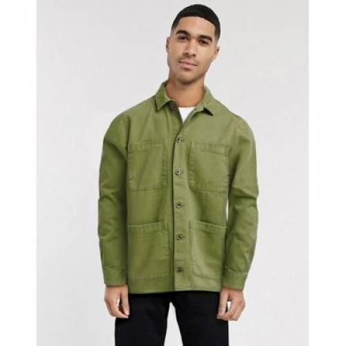 デニム 緑 グリーン メンズファッション コート ジャケット 【 GREEN TOM TAILOR DENIM SHIRT JACKET IN 】