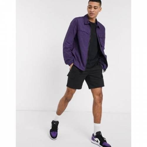 紫 パープル メンズファッション コート ジャケット 【 PURPLE ASOS DESIGN LIGHTWEIGHT UTILITY ZIP THROUGH JACKET IN 】