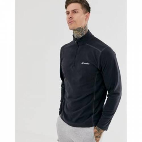 ハーフ フリース 黒 ブラック メンズファッション コート ジャケット 【 BLACK COLUMBIA KLAMATH RANGE II HALF ZIP FLEECE IN 】