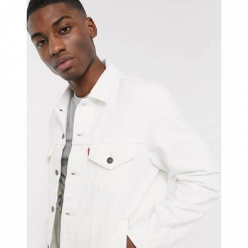 ビンテージ ヴィンテージ デニム トラッカー 白 ホワイト LEVI'S メンズファッション コート ジャケット 【 VINTAGE WHITE FIT DENIM TRUCKER JACKET IN OUT WASH 】