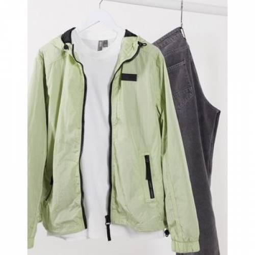 緑 グリーン メンズファッション コート ジャケット 【 GREEN RIVER ISLAND ZIP THROUGH HOODED JACKET IN 】