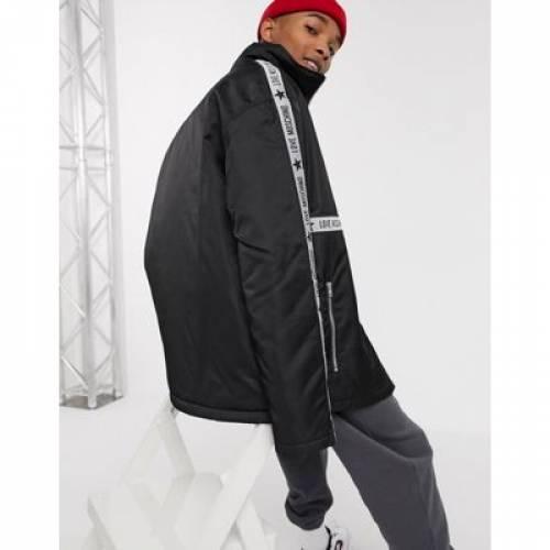ロゴ メンズファッション コート ジャケットLOVE MOSCHINO TAPED LOGO JACKETwkuOPTZiX