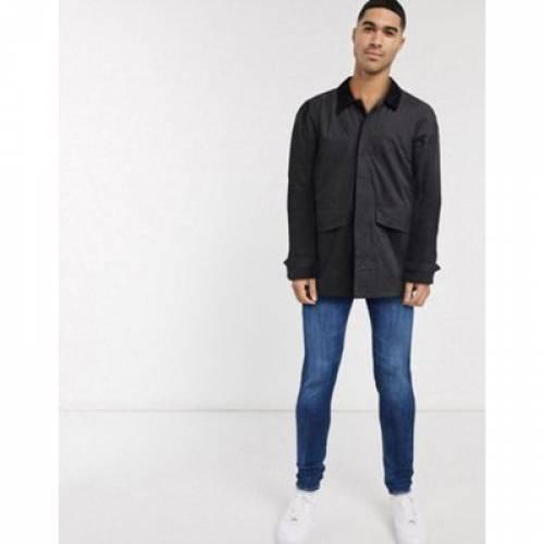 & メンズファッション コート ジャケット 【 JACK JONES MAC JACKET WITH CONTRAST COLLAR 】