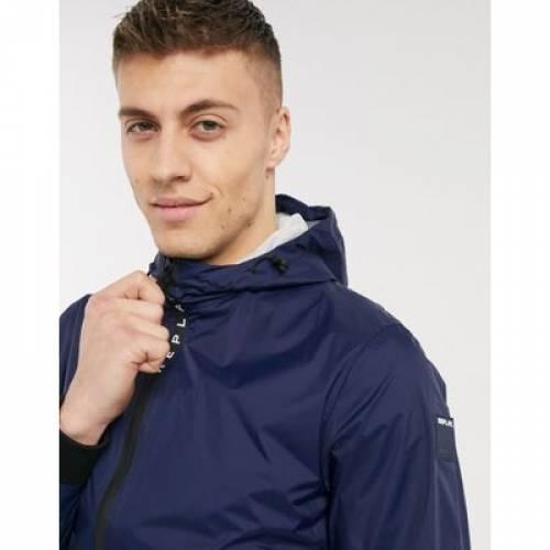 ウィンドブレーカー 青 ブルー メンズファッション コート ジャケット 【 BLUE REPLAY WINDBREAKER JACKET IN 】