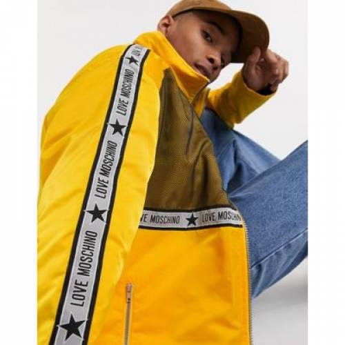 ロゴ メンズファッション コート ジャケット 【 LOVE MOSCHINO TAPED LOGO JACKET 】