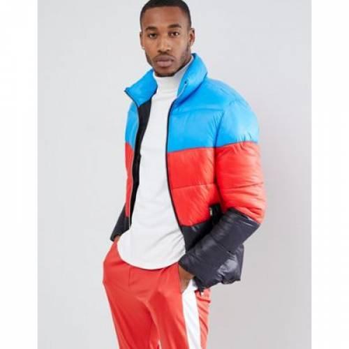 メンズファッション コート ジャケット 【 BOOHOOMAN COLOUR BLOCK PUFFER JACKET IN MULTI 】